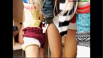 youthfull girl-girl jerk and taunt - more at hotlesbianonline