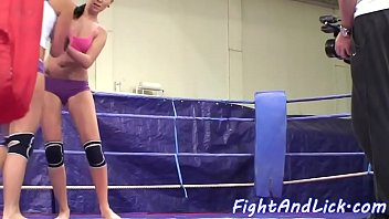 dyke stunners grappling in boxing ring