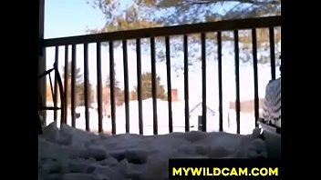 winter balcony teenager joy - mywildcamcom