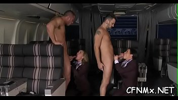 foxy cougar has killer cfnm romp throating and.