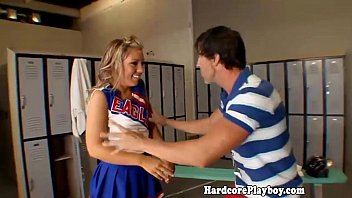 supple cheerleader teenie in lockerroom