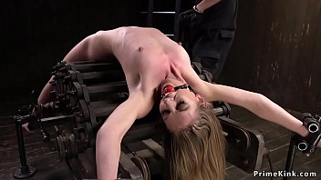 stunner tortured in stringent confine bondage