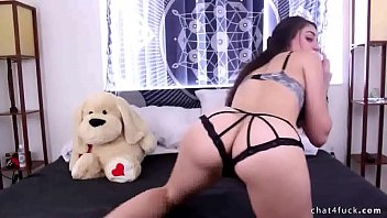 witness wonderful dark haired plays with her gigantic.