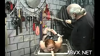 flaming nude spanking and non-pro freaky confine bondage porno