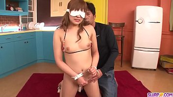 rinka aiuchi perceives man gravy on snatch after.