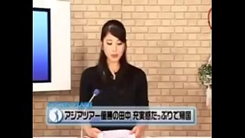 japanese sports news flash anchor pummeled from behind.