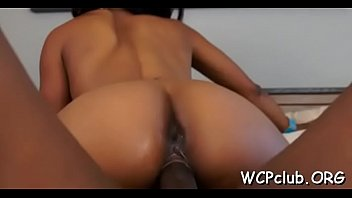 crazy milky hotty has interracial ravaging with ebony masculine