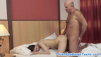 real nubile with uber-cute caboose gets humped by oldman