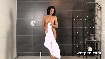 nasty adele urinating while showering