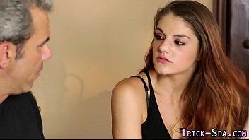 tricked teenage spunk massagist
