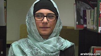 mia khalifa disrobes hijab and clothes in library mk13825