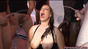 pee adorned tramp pounding