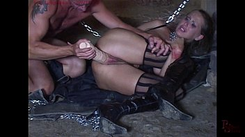 mandy bright fettered and dual screwed in her puss