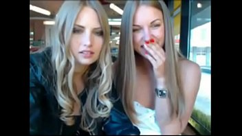 two handsome blondie sisters gonna nude in public.