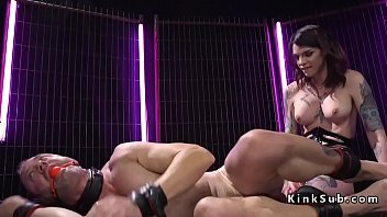 good-sized-titted ladyboy dom rectal pokes masculine.