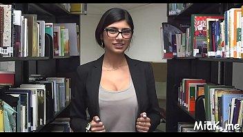 arab playgirl milks in library