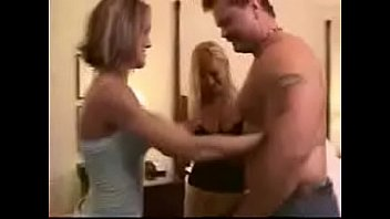 swinger duo has threeway with gal.