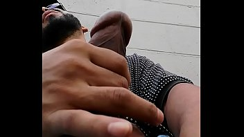 huge lollipop latino boner poppin outdoors