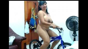 latin plus-size railing nude glorious bicycle
