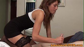 cfnm fetish honey stroking jizm-pump in point of look