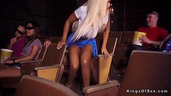 ash-blonde smashes stranget in cinema