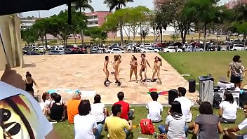 torrid nymphs protesting nude