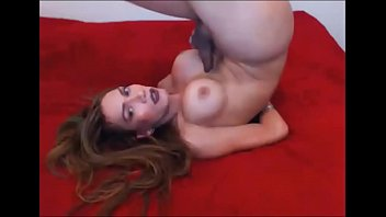 adorable t-model jizzing all over her.