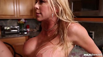 steamy cougar alexis fawks takes one in the kitchen