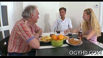 naughty elderly guy bonks youthful lady