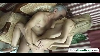 amputee elderly fellow gets lucky with.