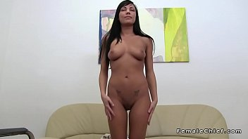 suntanned sweetheart fucktoys at lezzie casting