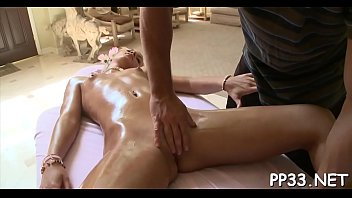 breasty darling gets a lusty oil rubdown from.
