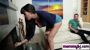 dark haired step mother with good-sized baps blows.