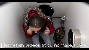 hidden cam restroom urinating chick 13