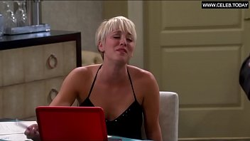kaley cuoco - bathing suit hefty hooters cleavage.