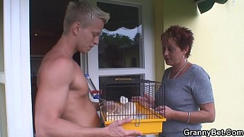elderly grandmother railing neighbour039_s massive boink-stick