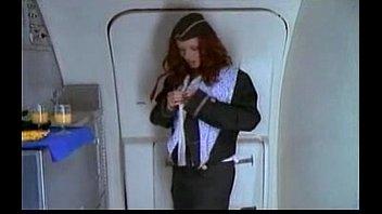 stewardess passenger doing onanism watchimg bang-out