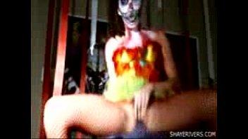 shaye  halloween clown teenage getting.
