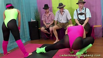 spandex group lovemaking aerobic
