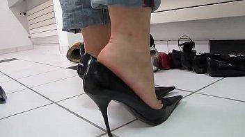 cams4freenet - dark-hued wondrous high stilettos.