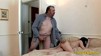 creepy daddy jacks over a nubile
