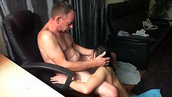 manager making maid to deep-gullet her.