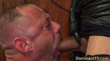 meaty-boobed black transsexual assfucking bulky jock