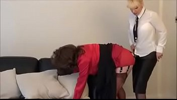 mommy domina humps father in haul high-heeled slippers.