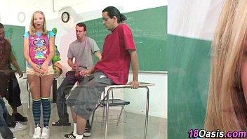 group teenager gets bukkaked