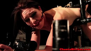 lesbian domination domina uses machine and.