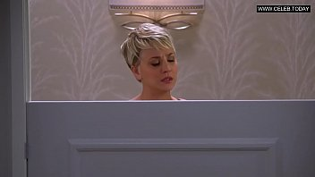 kaley cuoco - warm cleavage beautiful nighty -.