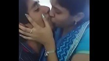 tamil school lady smooching her boy.