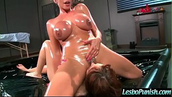 adessaamp_ariella lezzies in rock hard penalize fuck-fest gig.
