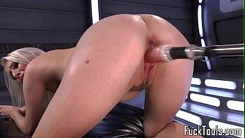 machine honey likes her sybian saddle.
